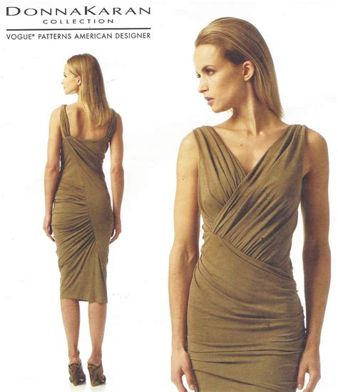 dress pattern ruching donna karan womens sexy ruched dress oop vogue sewing