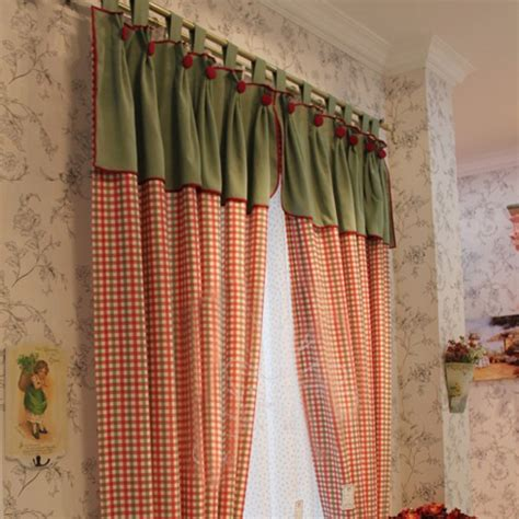red country curtains american country curtains with red plaid pattern