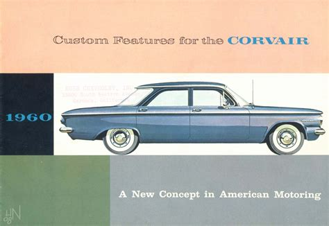 old car repair manuals 1960 chevrolet corvair engine control 1960 chevrolet corvair accessories brochure