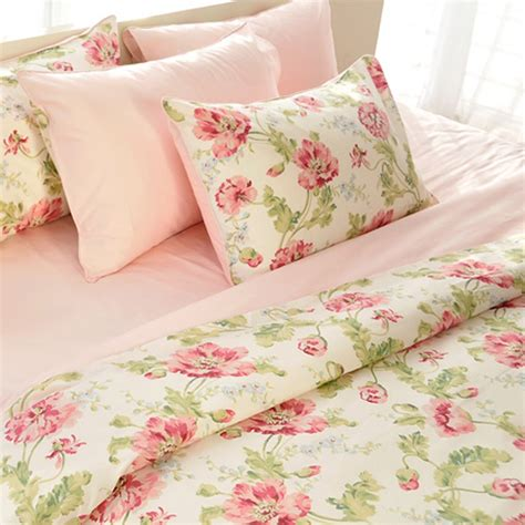 peony bedding flower duvet cover set