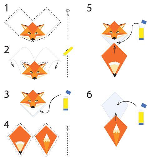 printable origami fox instructions corner bookmark everydaycrafting fiori di carta
