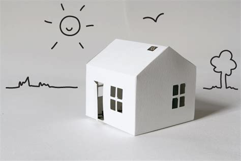 Make Paper House - glowing house set bare conductive