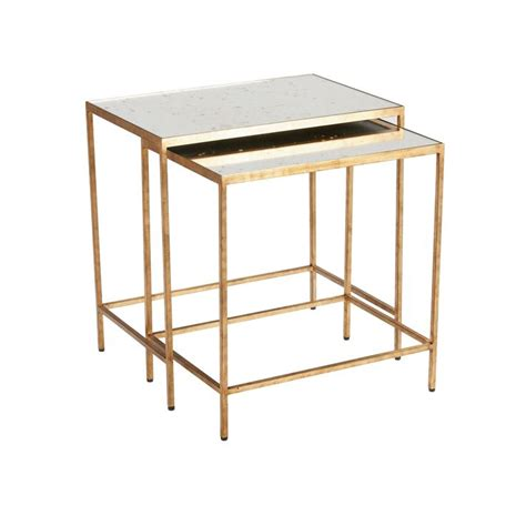 zachary nesting end tables ethan allen us mirrored end