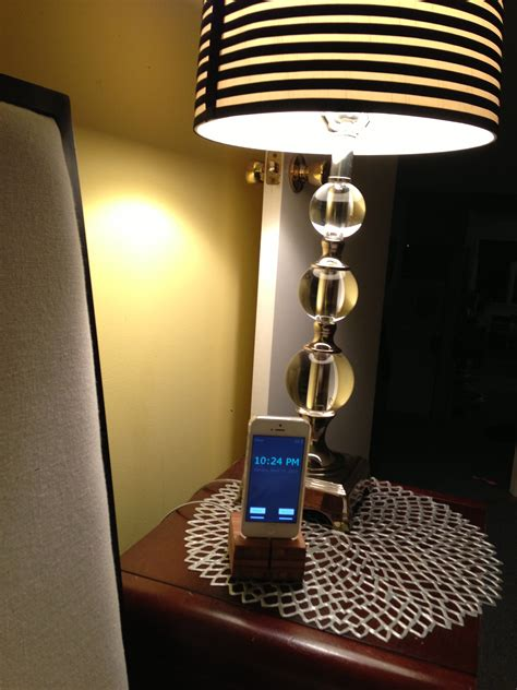 iphone night stand clock weather light control