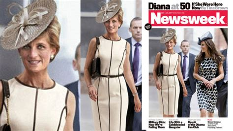 Newsweek Diana At 50 by Undead Princess Diana Strolls With Kate Middleton On