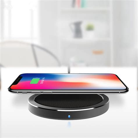rock w4 2a qi wireless fast charging disk charger for iphone x 8 8plus samsung s8 s7 iwatch 3