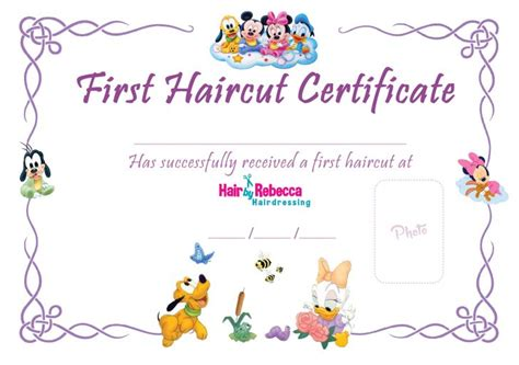 First Haircut Certificate Pdf Haircuts Models Ideas Haircut Certificate Template