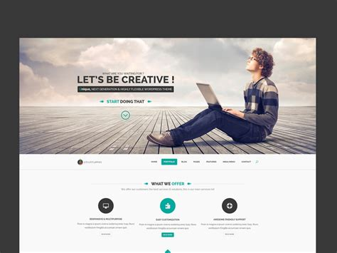 pinterest layout psd startuprr one page template freebie download photoshop