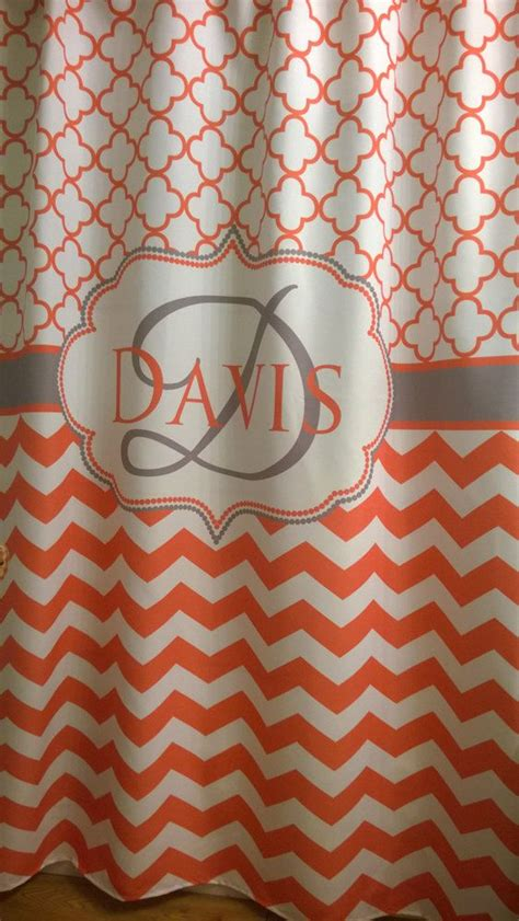 coral and gray shower curtain 17 best ideas about coral shower curtains on pinterest