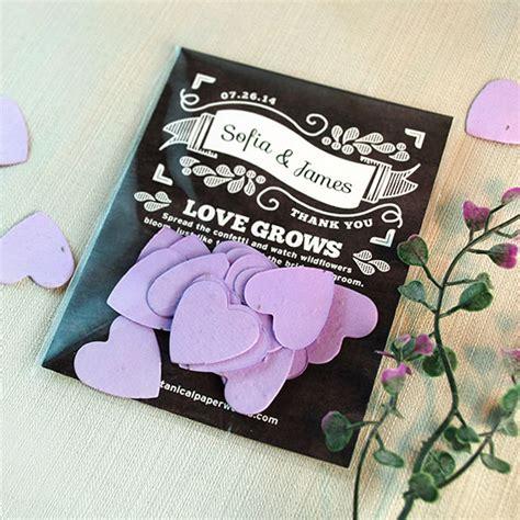 Wedding Favors Catalog by Chalkboard Confetti Favor Plantable Seed Wedding