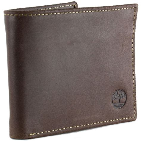 rugged leather section mens rugged leather wallet timberland delta flip up id