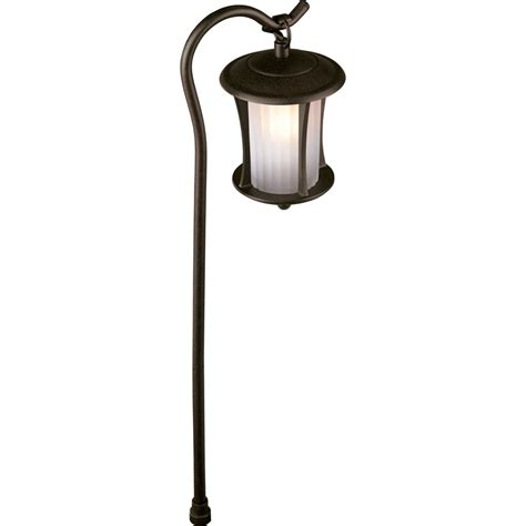 low voltage lighting fixtures shop portfolio landscape bronze low voltage path light at lowes