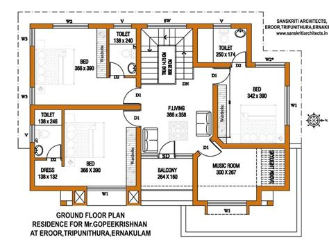 how big is 2900 square feet ground floor plan for home inspirational 5 cent home plan 2900 sq feet 2 floor house plan