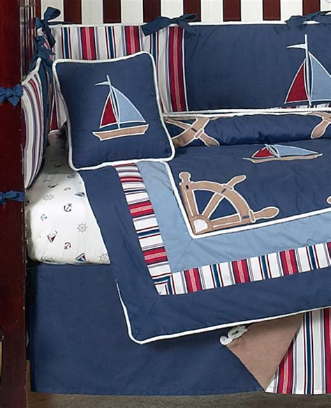 cheap navy blue nautical sail boat themed 9p baby boy crib