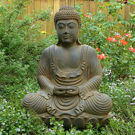meditating garden buddha statue cast in high quality resin
