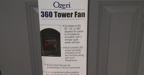 ozeri 360 oscillation tower fan knows best ozeri tower fan with micro blade noise