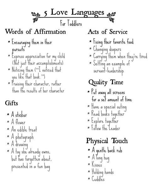 5 Languages Worksheet