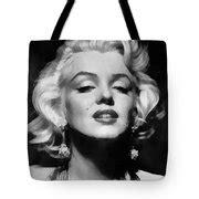 Totebag Marilyn Black marilyn black and white digital by fowler