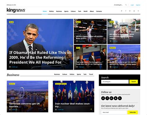 newspaper theme html5 20 news website html5 templates free premium themes