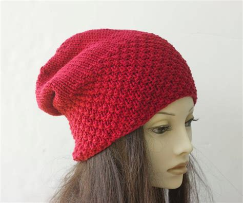 knitting pattern slouchy hat knit slouch hat pattern by black iris knitting pattern