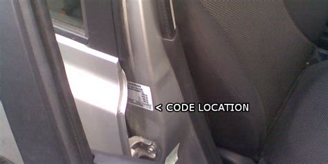 nissan paint codes nissan paint code location