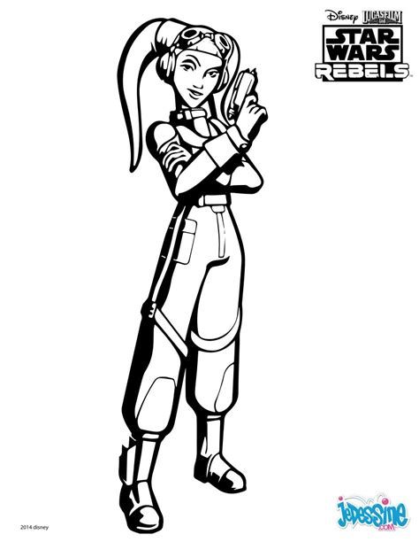 star wars ezra coloring page coloriages star wars rebels hera fr hellokids com