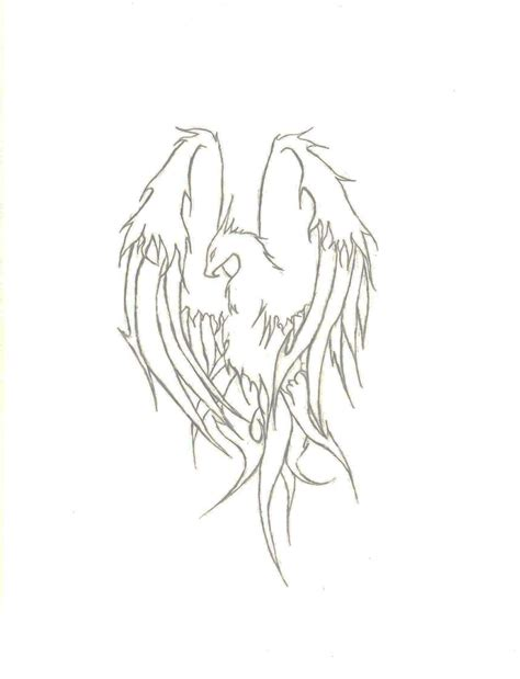 Phoenix Tattoo No Outline | phoenix tattoo outline by 67chevy on deviantart
