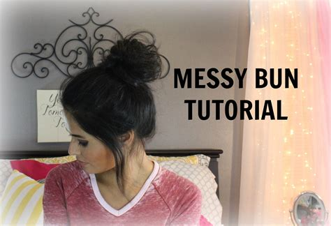 easiest messy side bun youtube how to quick and easy messy bun tutorial madison