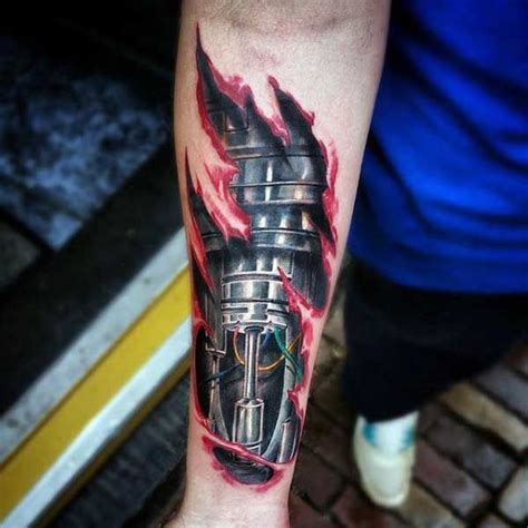 best rip tattoo designs collection of 25 colored ripped skin biomechanical