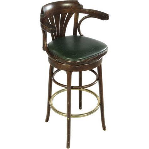 stool deco green wood w back air designs