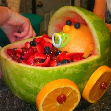 Baby Shower Fruit Ideas baby shower ideas fruit baby carriage cheri s duckie shower pint
