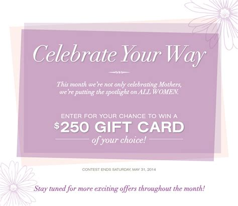 Way Spa Gift Card Canada - cleo canada facebook giveaway win a 250 gift card of your choice canadian