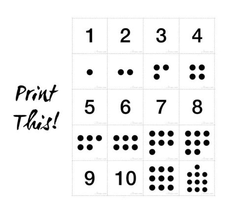 printable number cards with dots pictures to pin on number matching cards activity jornie com