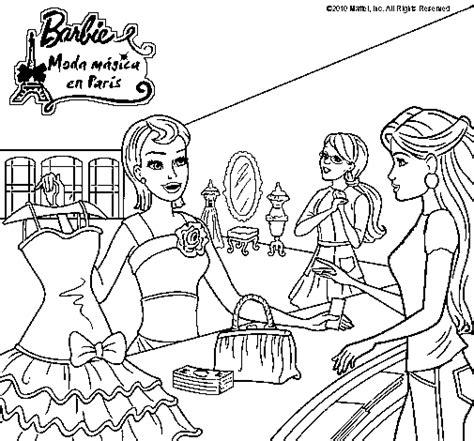 imagenes para colorear ropa dibujo de barbie en una tienda de ropa para colorear