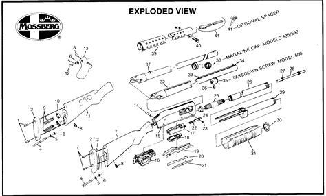 mossberg 500 parts diagram mossberg 22 parts diagram