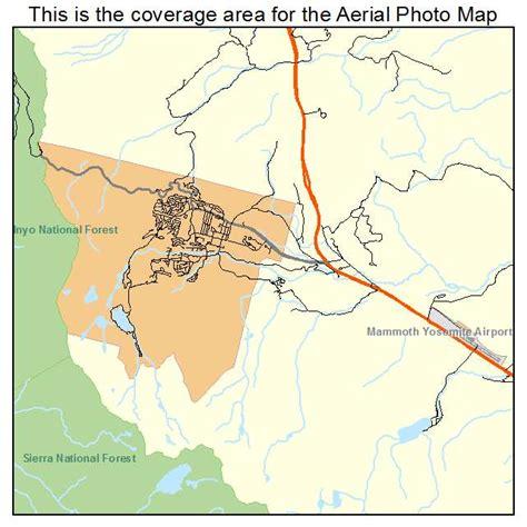 california map mammoth lakes aerial photography map of mammoth lakes ca california