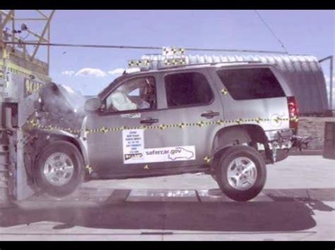 2007 chevy tahoe frontal crash test by nhtsa crashnet1 youtube
