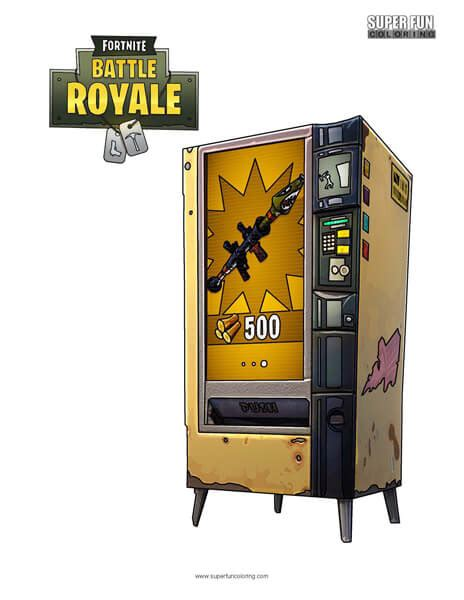 fortnite vending machine fortnite vending machine coloring page coloring