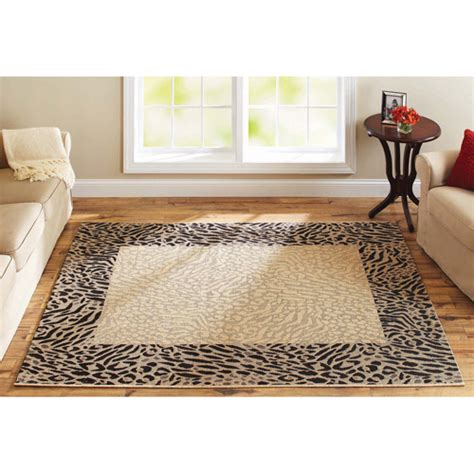 better homes and gardens rugs at walmart better homes and gardens animal print border flatweave rug decor walmart