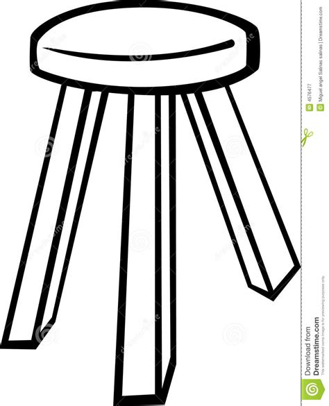 wooden stool vector illustration royalty free stock