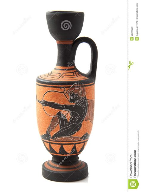 Greek Vase Decoration Decorated Greek Vase Stock Photo Image 20281090