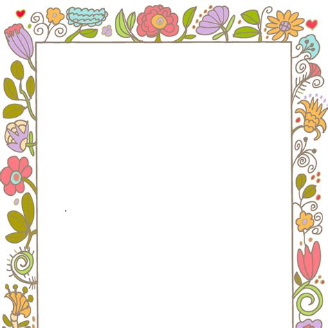 printable paper photo frames cute printable frames and border clipart collection