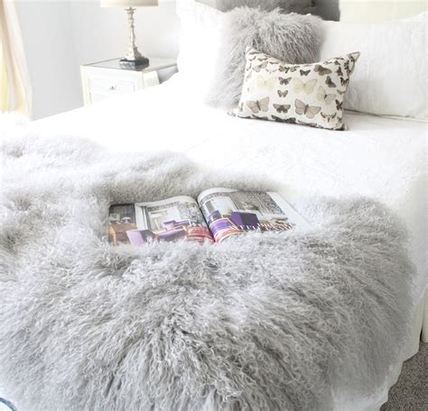 light grey throw blanket luxurious light grey tibetan mongolian fur bed and sofa