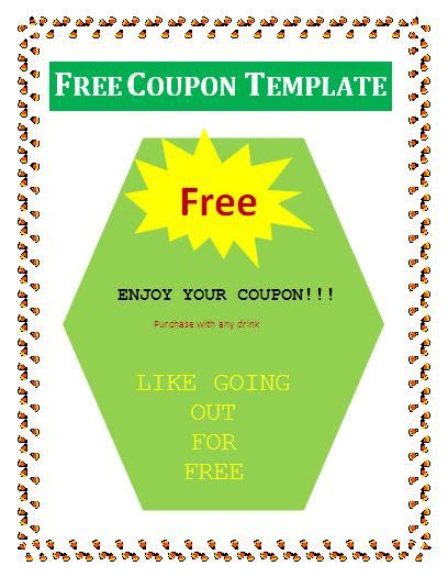 coupon templates free coupon templates free images