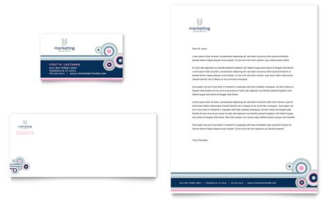 card marketing services templates marketing agency business card letterhead template