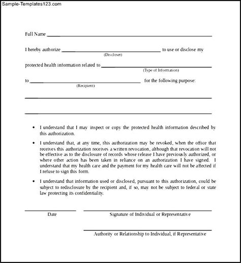 Hipaa Release Letter Hipaa Release Forms Sle Hipaa Release Form Sle Hipaa Release Form Templatezet