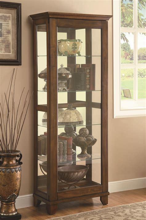 Curio Cabinet Shelves Coaster Curio Cabinets 5 Shelf Curio Cabinet With Warm