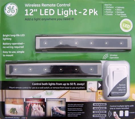 ge wireless led under cabinet lighting new 2 ge 12 quot 6 led remote control under cabinet lights