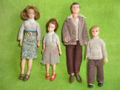 vintage lundby dolls house vintage lundby barton doll s house dolls family of 4 people original clothes 70s 16 89