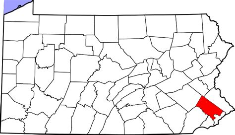 file map of pennsylvania highlighting montgomery county
